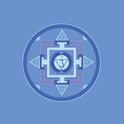 dark blue chakra Mandala (Ajnya) by Amalias-dream