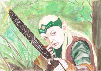 Larp character portrait - female forest elven by Amalias-dream