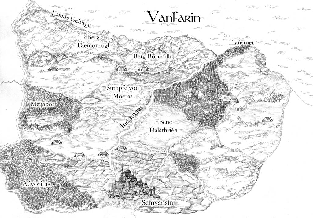 Map for the fantasy country Vanfarin by Amalias-dream