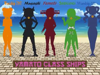 Kancolle Yamato Class by SmokeyandtheBandit