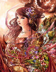Lady and Flowers by TSHORYUKEN