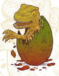 Baby raptor by MarKomik