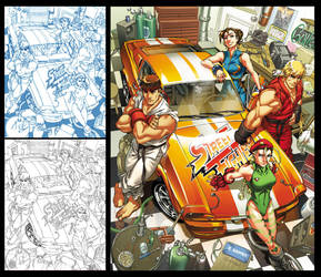 Street Fighter Tribute -Muscle by CeeCeeLuvins