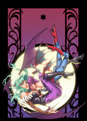 Darkstalkers Morgan and Lilith by CeeCeeLuvins