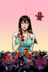 Spider-Man Clone unused cover by CeeCeeLuvins