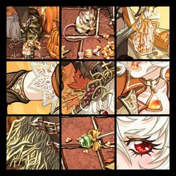 Garnet's late Halloween DETAIL by CeeCeeLuvins