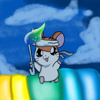 Hamtaro the Everlasting Torch Runner by DoraeArtDreams-Aspy