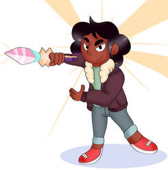 Connie and Her New Sword by DoraeArtDreams-Aspy