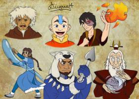 Avatar sketches by CartoonSilverFox