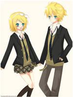 Vocaloid: Len and Rin by KawaiiPandah