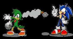 Bean Vs Sonic by funkyjeremi