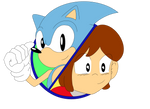 Sonic and Alex Kidd Crossover Cover Art by funkyjeremi