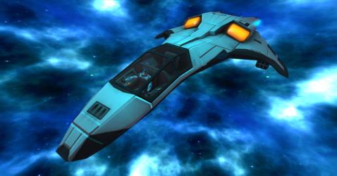 Starfleet Admiral Shadow in his personal Fighter by shadowwolf34965