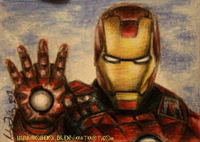 Avengers - Iron Man - ACEO/ATC by robdolbs