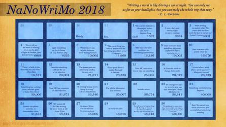 NaNoWriMo 2018 Calendar by CaseyJewels