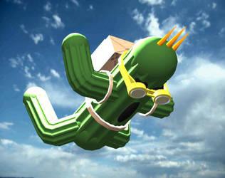 Cactuar goes skydiving by cactuar9999
