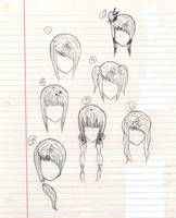 Anime Hairstyles by plmethvin