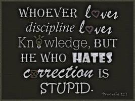 Proverbs 12:1 -WALLPAPER- by plmethvin