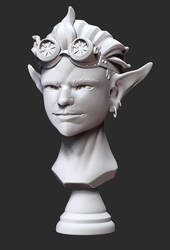 Bust of an Imp-like Creature by ZymTrance
