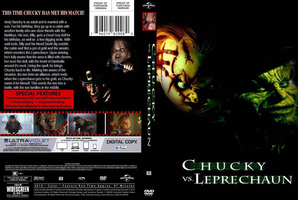 chucky vs leprechaun dvd cover by steveirwinfan96 on deviantart