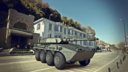 B1 Centauro Wheeled Tank Destroyer 3d Model by ergin3d