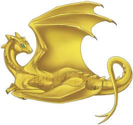 Hatchling Template Color Test (Gold) by HybridGeist