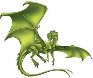 Fire-lizard Template - Twitter by HybridGeist