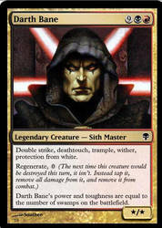 Darth Bane MTG by southee