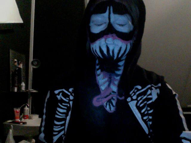Venom face paint by Smokys-art