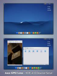 KDE 4.13 - Arch GNU Linux by nekron29