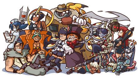 all them skullgirls by captainosaka