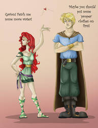 Garion and CeNedra by Azalea-Jones
