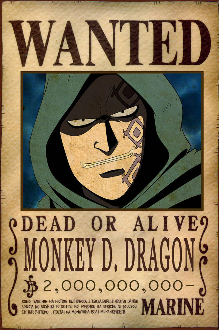 Monkey D. Dragon Bounty by AnimeGalaxyHD on DeviantArt