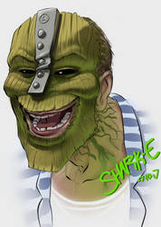 The Creepy Mask, with not Jim Carrey by SHARK-E