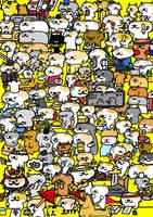 all star cat world by kusaman