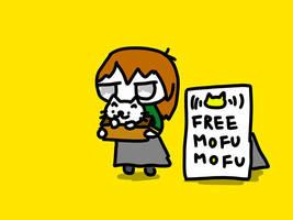 no! freehug! yes! free MOFUMOFU! by kusaman