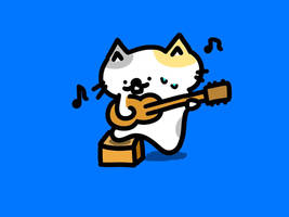 GUITAR cat by kusaman