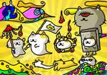cat ghost by kusaman
