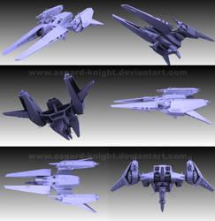 Meltran Gunship 3d by asgard-knight