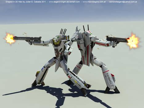 BACK TO BACK - Gunmachine test by asgard-knight