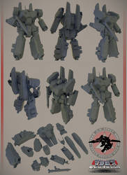 Armored Battroid for 3D print on sale. by asgard-knight