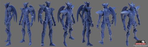 Super Robot Mayhem 3D Sculpt by asgard-knight