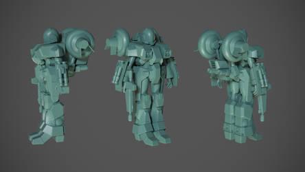 Mospeada Ride Armor WIP by asgard-knight