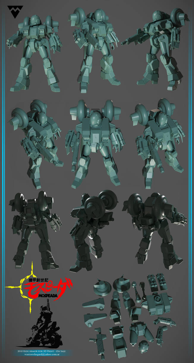 Mospeada Ride Armor for 3D Print - On sale by asgard-knight