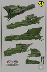 Zentraedi Ship Quiltra-quelamitzs for 3D Print by asgard-knight