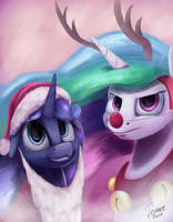 Holiday sisters by InsaneRoboCat