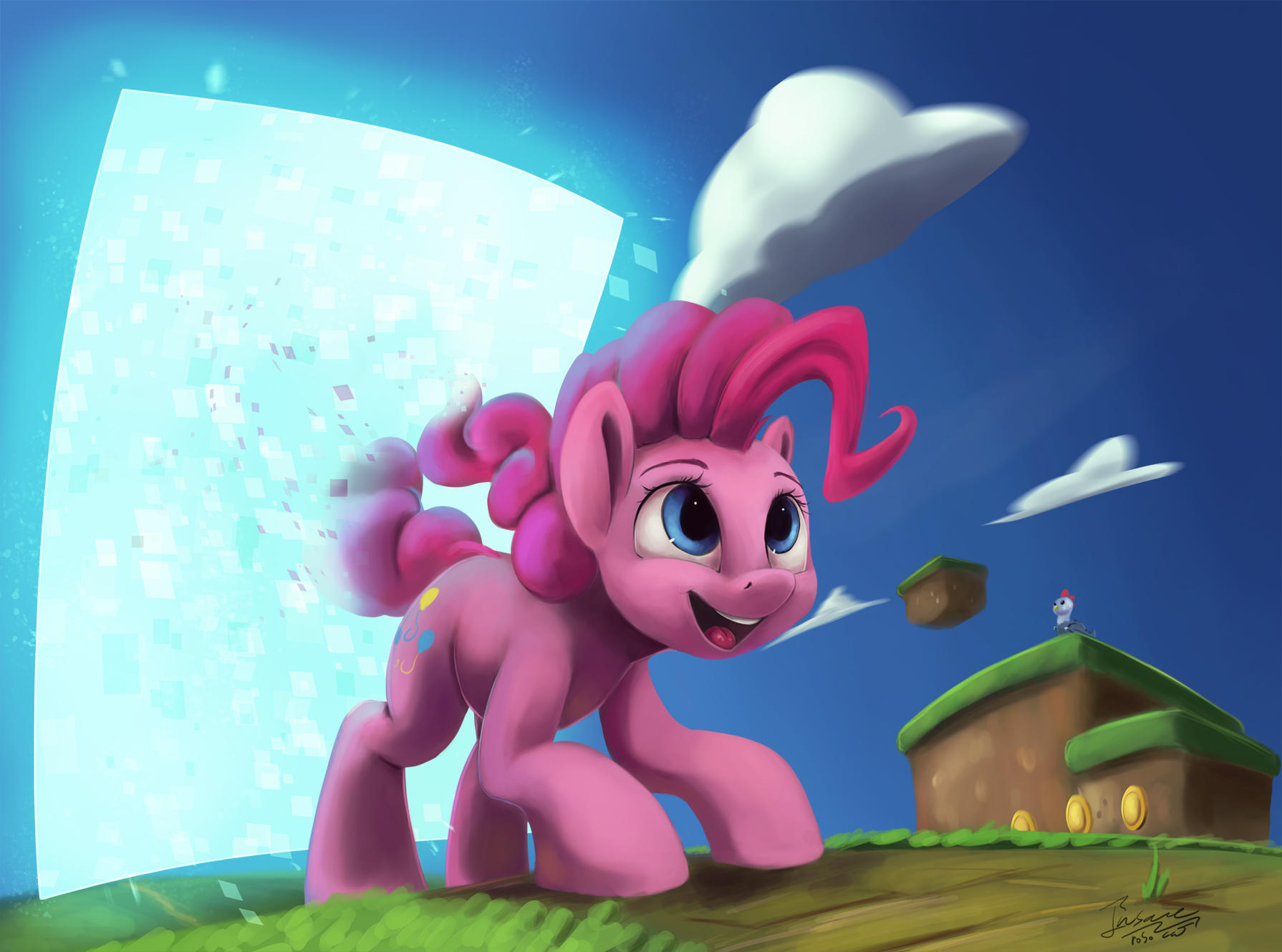 Pinkie Has Joined The Game by InsaneRoboCat