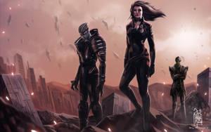 Mass Effect 2 fan art by aribuwana