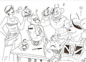 Biker Mice Halloween by XtreamCrazy