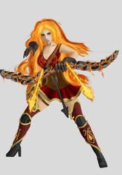 Flame Ashe - archer by Onirke